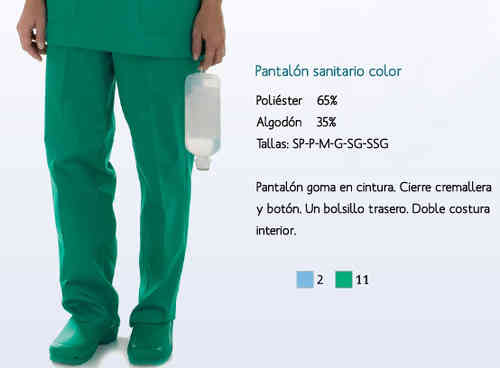 PANTALÓN SANITARIO COLOR ref.301