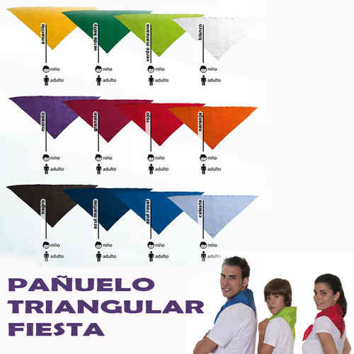 PAÑUELO TRIANGULAR ADULTO FIESTA