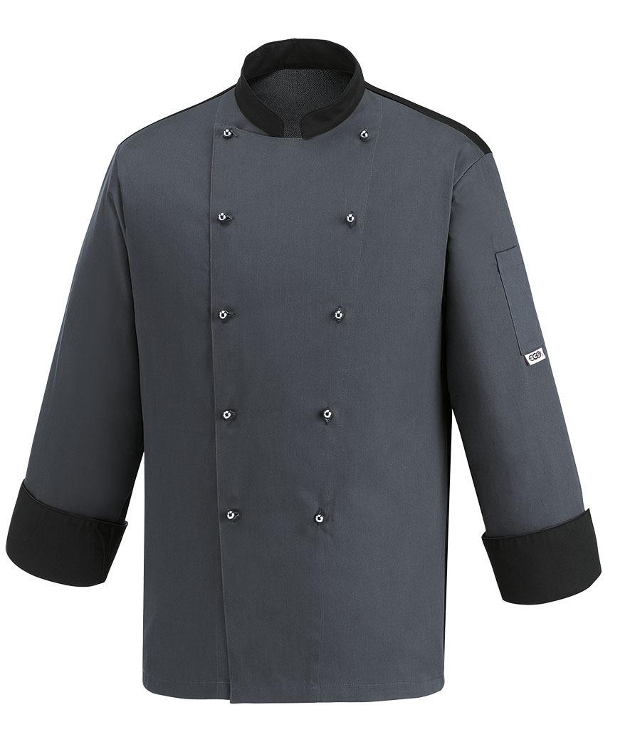 Chaqueta cocina gris convoy color ropa de trabajo for Chaquetas de cocina originales