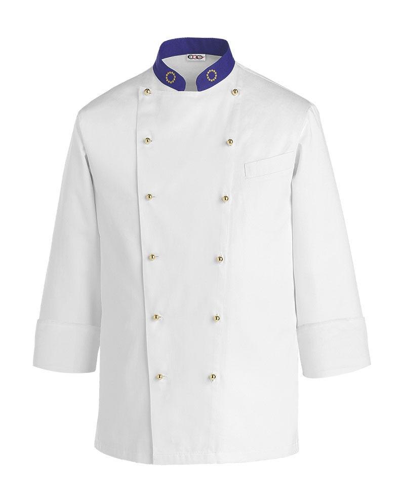 Chaqueta cocina blanca euro ropa de cocinero uniformes cocina for Chaquetas de cocina originales